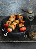 Japanese yakitori skewers