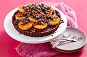 Chocolate mandarin tart