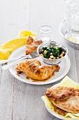 Joghurthähnchen mit Spinat und Kichererbsen (Indien)