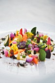 Gemüse aus dem alten Land mit Kamille-Oliven-Emulsion, Hotel Severin's Resort & Spa in Keitum auf Sylt