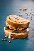 A persimmon sandwich