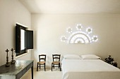 A bedroom at the Masseria Prosperi Hotel near Otranto, Italy