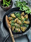 Potatoes with fenugreek