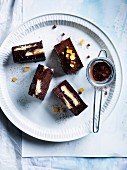 Chocolate-orange truffle slice