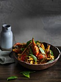 Mangrovenkrabben-Curry mit Thaibasilikum (Asien)