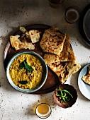 Chana Dal mit Roti (Indien)