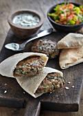 Lamb patties in unleavened bread (India)