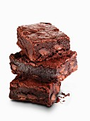 A pile of brownies