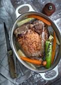 Pot au feu with veal knuckle