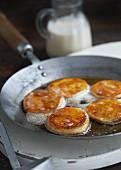 Potato cakes in hot oil