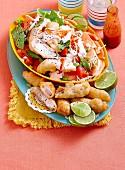 Fisch-Taco-Salat