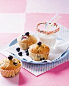 Lactose-free blueberry muffins