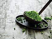 Peas on a ladle