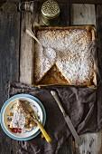 Dolce alle mandorle (Quadratischer Mandelkuchen, Italien)