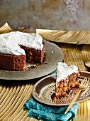 Christmas cake with dried fruit (Sri Lanka)