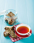 Muesli bars and a cup of tea