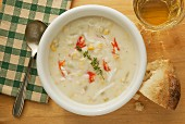 King crab corn chowder