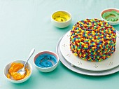 Rainbow buttercream sponge cake