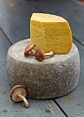 Cheese and fresh mushrooms