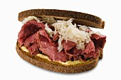 Pastrami and sauerkraut sandwich