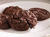 Vier Schokoladenplätzchen
