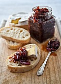 Onion chutney with ciabatta and Brie