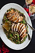 Spicy chicken breasts with orange and herb couscous