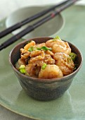 Prawns in a honey and walnut sauce (China)