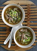 Chinese cabbage soup with beef (China)