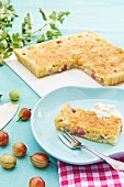 Gooseberry and coconut cake