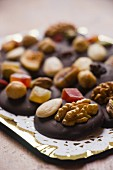 Mendiants with nuts and candied fruit
