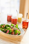 Carrot and beetroot salad with lettuce