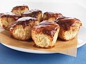 Rohrnudeln (baked, sweet yeast dumplings) with a cinnamon glaze