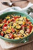 Ratatouille with pasta