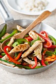 Turkey stir-fry with peppers