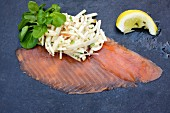 Smoked trout with a celery, fennel and apple remoulade with watercress