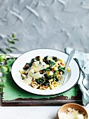 Ürecchiette with cavolo nero and porcini