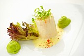 Steamed grouper with mushy peas and sauce