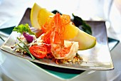 Grapefruit and prawn salad