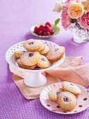 Mini friand with raspberry