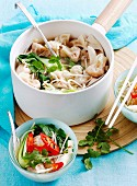 Vegetable and dumpling soup