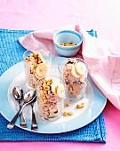 Frozen banana yoghurt
