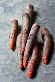 Red organic carrots