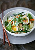 Indonesian vegetable salad with hard-boiled egg
