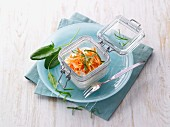 Carrot salad with herbs