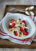 Summer fruit gratin