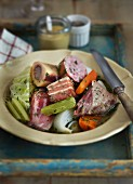 Pot au feu with vegetables and pork