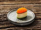 Gunkan maki sushi with caviar