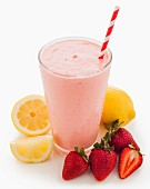 A lemon and strawberry smoothie