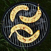 Grilled bananas with cinnamon
